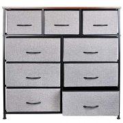 KINWELL Extra Wide Fabric Storage Organizer Clothes Drawer Dresser