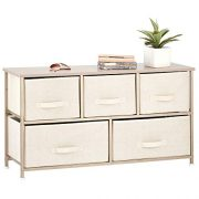 mDesign Extra Wide Dresser Storage Tower - Sturdy Steel Frame