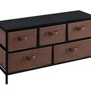 HOMEFORT Extra Wide Dresser Storage Tower,5 Drawers Storage Organizer