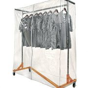 Only Garment Racks Z Rack Complete with Cover Supports & Clear