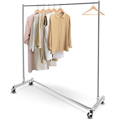 Simple Trending Industrial Grade Z-Base Clothes Garment Rack