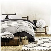 Classic Chambray Bedding 100% Washed Cotton Duvet Quilt Cover
