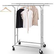 Simple Trending Double Rail Clothes Garment Rack