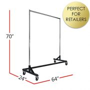 Commercial Garment Rack (Z Rack) - Rolling Clothes Rack