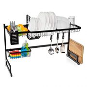 Jumbl Over Sink Dish Drying Rack   Large Two Tier Vertical