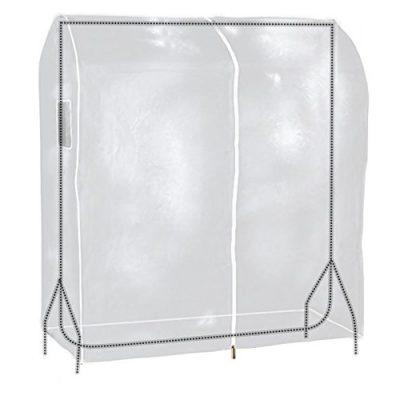 HANGERWORLD 3 Clear 4ft Showerproof Zip Clothes Rail Cover