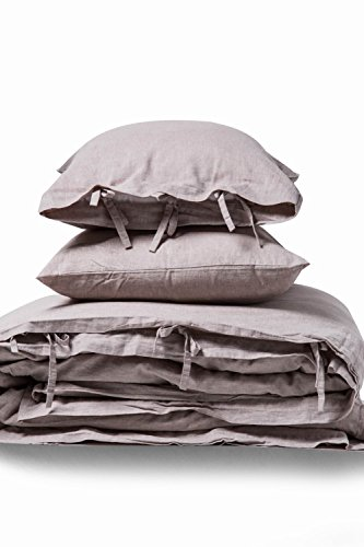meadow park Linen Cotton Duvet Cover Set 3 Pieces, Vintage Garment Washed