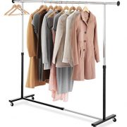 Whitmor Adjustable Rolling Garment Rack