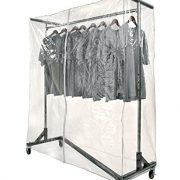 Only Garment Racks Clear Z Rack Cover with Support Bars