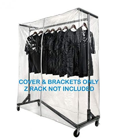 Only Hangers Heavy Gauge Clear Z Rack Cover with Zipper Plus a Pair