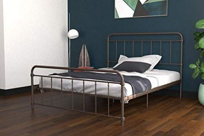 DHP Winston Metal Bed Frame, Multifunctional Piece with Adjustable Heights