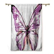 SEMZUXCVO Bedroom Windproof Curtain Animal Artistic Butterfly Design