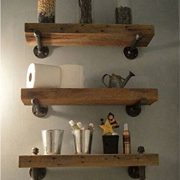 WGX Design For You Industrial Pipe Shelving Shelves Bookcase Rustic Wood