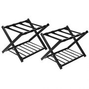 SONGMICS Luggage Rack Black