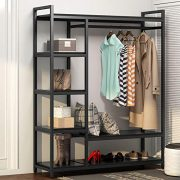 LITTLE TREE Free -Standing Closet Organizer,Heavy Duty Closet Storage