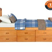 Merax Twin Size Platform Storage Bed Solid Wood Bed