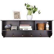 Homfa Hanging Entryway Shelf, 38.6 in Wall Mounted Storage Cabinets Coat