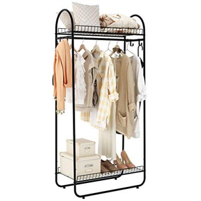 LANGRIA Compact Free-Standing Garment Rack Made of Sturdy Iron
