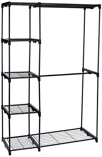 Whitmor Deluxe Double Rod Freestanding Closet Heavy Duty Storage