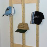 Stoughton's Woodsmith Economy Triple Poplar Baseball Cap Rack