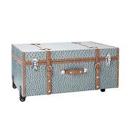 DormCo The Designer Wheeled Trunk - Smokey Lavender Ostrich - Large