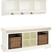 Crosley Furniture Brennan Entryway Storage Bench and Hanging Shelf Set