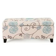 Christopher Knight Home Living Brenway Pattern Fabric Storage Ottoman
