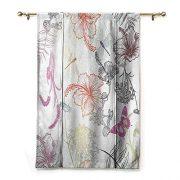 SEMZUXCVO Roman Curtain Country Decor Floral Design
