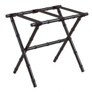 Fine Folding Furniture Black Bamboo Shaped Luggage Rack