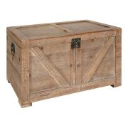 "Kate and Laurel Cates Rustic Wood Trunk, 14.5"" x 28"" x 14.5"", Brown"