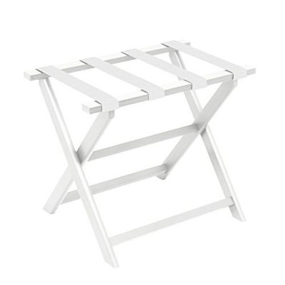 Gate House Furniture White Eco-Poly Folding Luggage Rack
