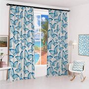 GUUVOR Butterfly Sun Protection Insulated Bedroom Living Room Curtain