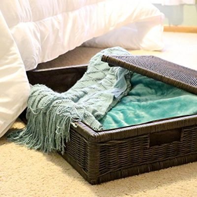 The Basket Lady Underbed Wicker Storage Box, Extra Large