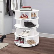 Kings Brand Furniture - 4-Tier Revolving Lazy Susan Shoe Rack Storage Organizer