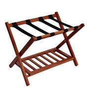 WELLAND Wood Folding Luggage Rack Suitcase Organization