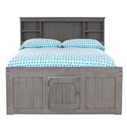 Discovery World Furniture Charcoal Full Bookcase Bed