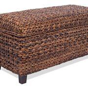BIRDROCK HOME Abaca Storage Ottoman Bench - Bed Storage Trunk