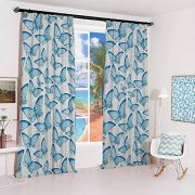 hengshu Butterfly Sun Protection Insulated Bedroom Living Room Curtain