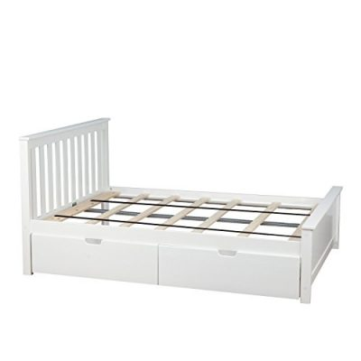 Max & Lily Solid Wood Full-Size Bed with Under Bed Storage Drawers
