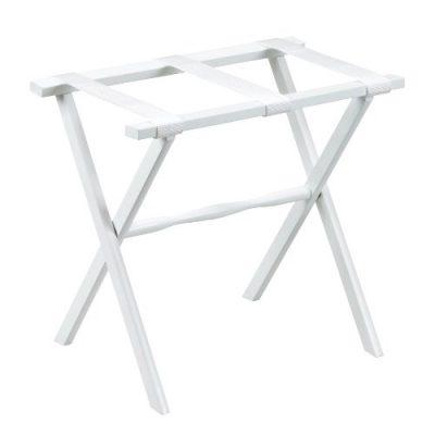 Gate House Furniture Item White Straight Leg Luggage Rack