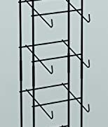 Display Cap tower 6-tier Base Ball Counter Top Black Rack