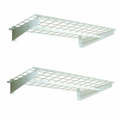 HyLoft 36-by-18-Inch Wall Shelf with Hanging Rod