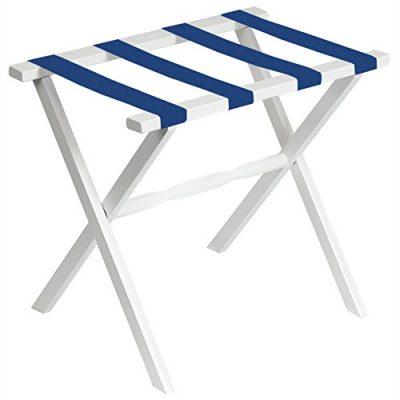 Fine Folding Furniture White Straight Leg Luggage Rack