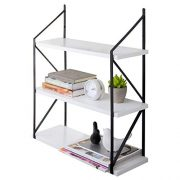 MyGift Modern 3-Tier White Wood Hanging Wall Shelf