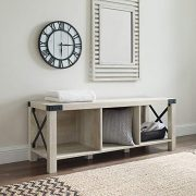 Walker Edison Furniture Company Rustic Modern Farmhouse Wood and Metal