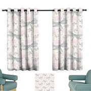 Warm Family Dragonfly Insulated Sunshade Curtain Shabby Chic Roses
