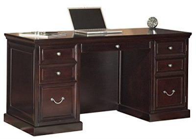 "Martin Furniture Fulton 61"" Space Saver Double Pedestal Desk"