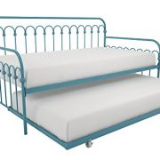 Novogratz Bright Pop Metal Bed, Adjustable Height for Under Bed Storage