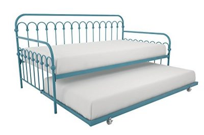 Novogratz Bright Pop Metal Bed, Adjustable Height for Under Bed Storage
