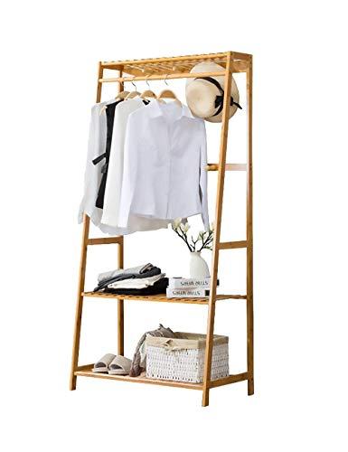 Ufine Bamboo Clothing Garment Rack Heavy Duty Coat Hanging Rack